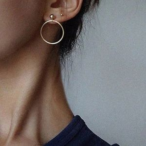 Round Earrings (Gold)